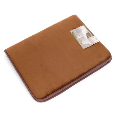 Non-Slip Memory Foam Tub-Shower Bath Rug Color: Chocolate Brown, Size: 1 H x 17 W x 24 D