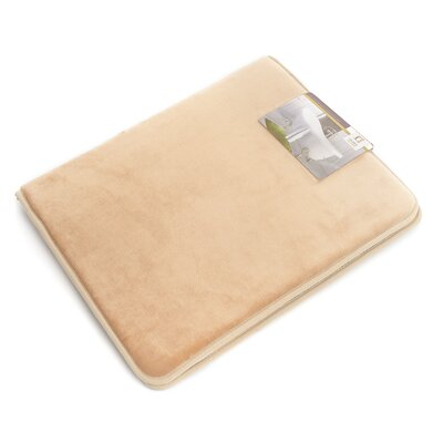 Non-Slip Memory Foam Tub-Shower Bath Rug Color: Beige/Cream, Size: 1 H x 17 W x 24 D