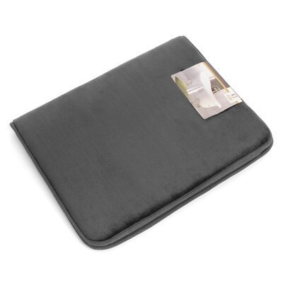 Non-Slip Memory Foam Tub-Shower Bath Rug Color: Charcoal Gray, Size: 1 H x 17 W x 24 D