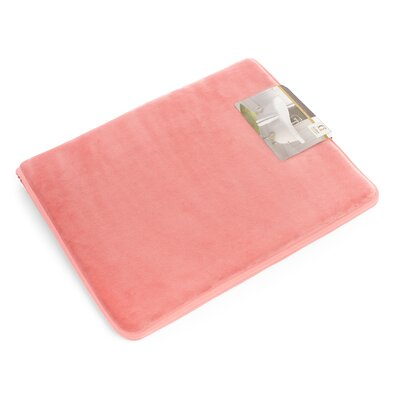 Non-Slip Memory Foam Tub-Shower Bath Rug Color: Coral Pink, Size: 1 H x 20 W x 32 D