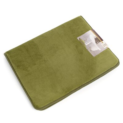 Non-Slip Memory Foam Tub-Shower Bath Rug Color: Sage Green, Size: 1 H x 20 W x 32 D