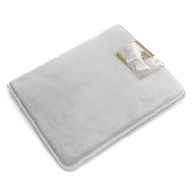 Non-Slip Memory Foam Tub-Shower Bath Rug Color: Silver Gray, Size: 1 H x 17 W x 24 D