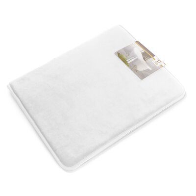 Non-Slip Memory Foam Tub-Shower Bath Rug Color: White, Size: 1 H x 17 W x 24 D