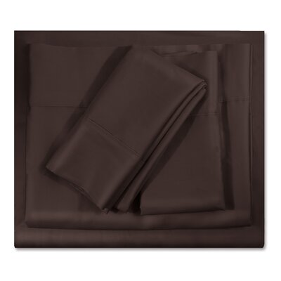 400 Thread Count Egyptian-Quality Cotton Sheet Set Color: Chocolate Brown, Size: Twin