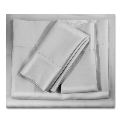400 Thread Count Egyptian-Quality Cotton Sheet Set Color: Silver Gray, Size: King