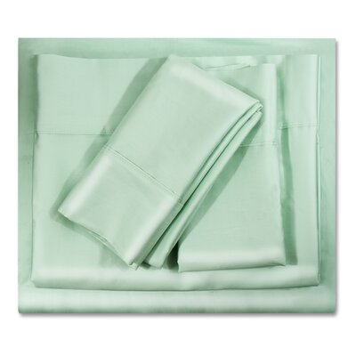 400 Thread Count Egyptian-Quality Cotton Sheet Set Size: Full, Color: Mint Green