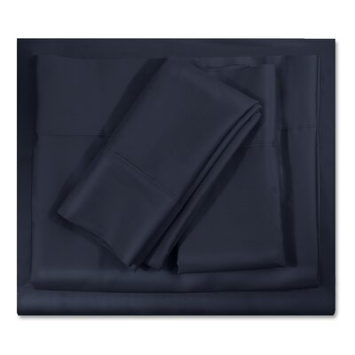 400 Thread Count Egyptian-Quality Cotton Sheet Set Color: Navy Blue, Size: King