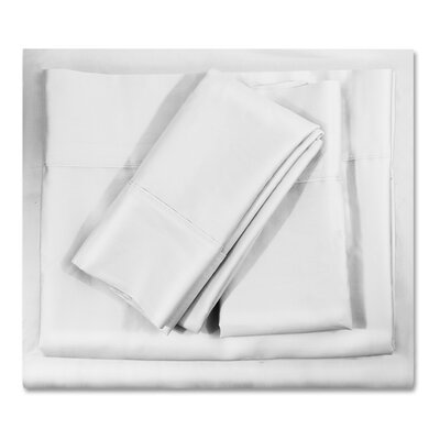 400 Thread Count Egyptian-Quality Cotton Sheet Set Size: King, Color: White