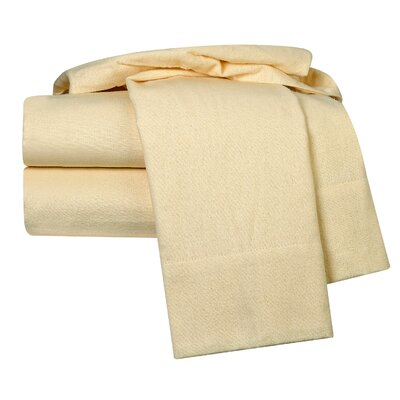 100% Egyptian-Quality Cotton Flannel Sheet Set Size: Full, Color: Cream Beige