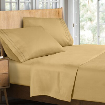 Supreme Sheet Set Size: Full, Color: Camel Gold