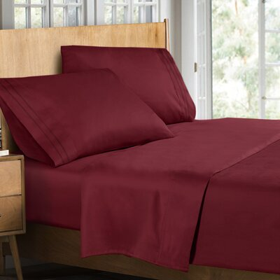 Supreme Sheet Set Color: Burgundy, Size: Twin