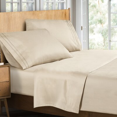 Supreme Sheet Set Color: Cream Beige, Size: Queen