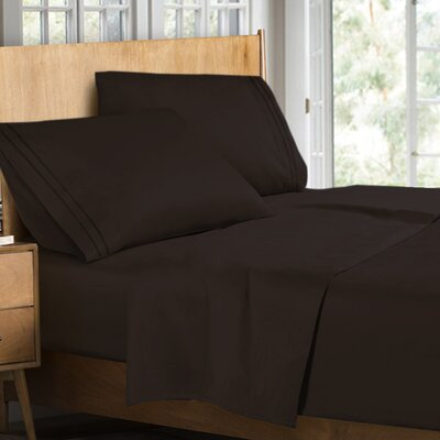 Supreme Sheet Set Color: Chocolate, Size: Queen