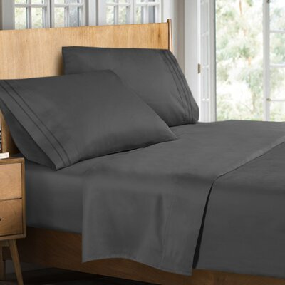 Supreme Sheet Set Size: Full, Color: Gray