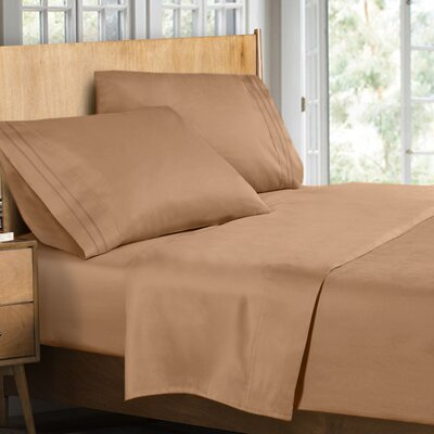 Supreme Sheet Set Size: King, Color: Mocha