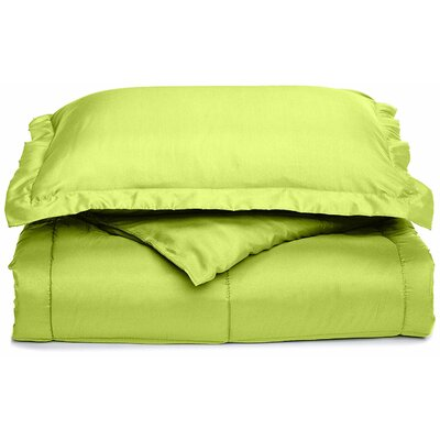 Neutral All Season Down Alternative Comforter Color: Lime Green