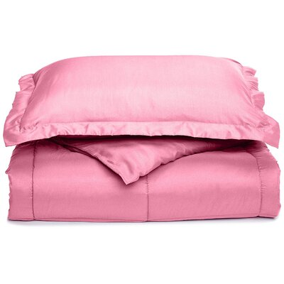 Neutral All Season Down Alternative Comforter Color: Pink