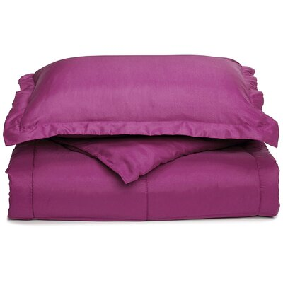 Neutral All Season Down Alternative Comforter Color: Purple