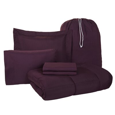 Pax 6 Piece Twin XL Bed-In-A-Bag Set Color: Purple