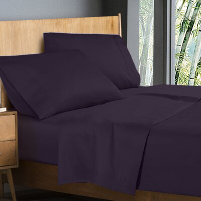 Donellan Sheet Set Color: Dark Purple, Size: King