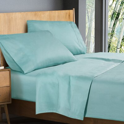 Donellan Sheet Set Size: King, Color: Light Blue