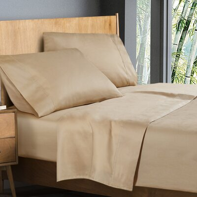 Donellan Sheet Set Size: King, Color: Cream Beige