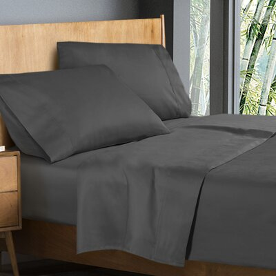 Donellan Sheet Set Size: King, Color: Gray