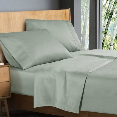 Donellan Sheet Set Size: California King, Color: Sage Green