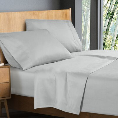 Donellan Sheet Set Size: King, Color: Silver