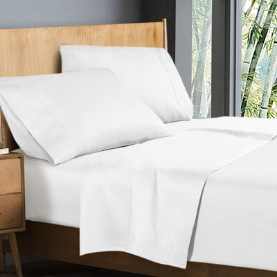 Donellan Sheet Set Size: California King, Color: White