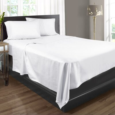 Extra Soft 400 Thread Count 100% Cotton Sheet Set Size: Full/Double, Color: White