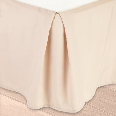 Blondell Tailored 1800 Thread Count Bed Skirt Color: Beige Cream, Size: Queen