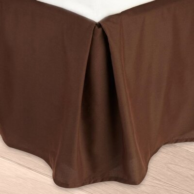Blondell Tailored 1800 Thread Count Bed Skirt Color: Chocolate Brown, Size: Twin