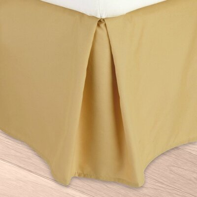 Blondell Tailored 1800 Thread Count Bed Skirt Color: Camel Gold, Size: Queen