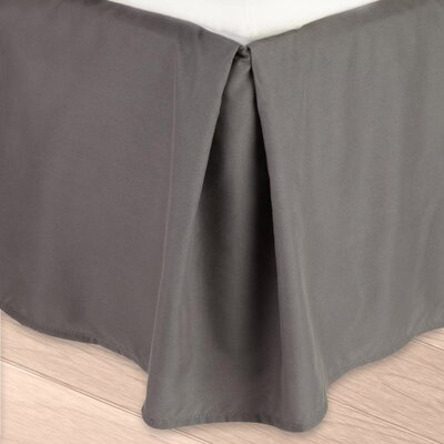 Blondell Tailored 1800 Thread Count Bed Skirt Color: Charcoal Gray, Size: Twin