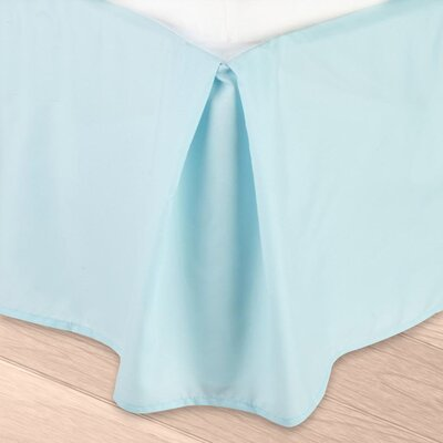 Blondell Tailored 1800 Thread Count Bed Skirt Color: Light Blue, Size: Queen