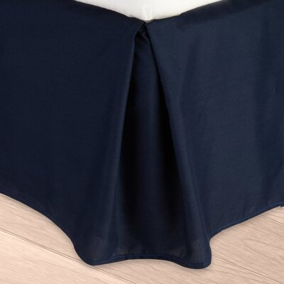 Blondell Tailored 1800 Thread Count Bed Skirt Color: Navy Blue, Size: Queen
