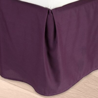 Blondell Tailored 1800 Thread Count Bed Skirt Color: Purple, Size: Queen