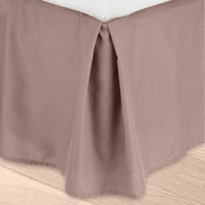 Blondell Tailored 1800 Thread Count Bed Skirt Color: Taupe Sand, Size: Queen