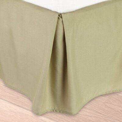 Blondell Tailored 1800 Thread Count Bed Skirt Color: Sage Green, Size: Queen