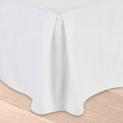 Blondell Tailored 1800 Thread Count Bed Skirt Color: White, Size: Twin