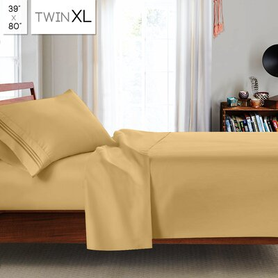Beth Twin-XL 3pc Sheet Set Color: Camel