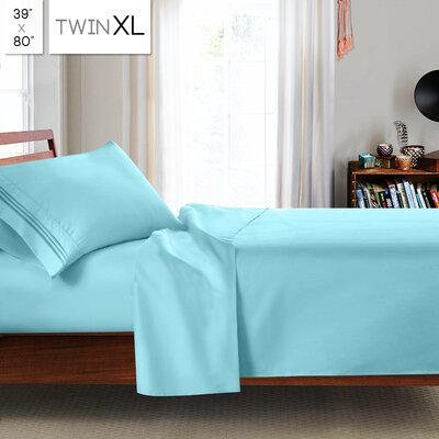 Beth Twin-XL 3pc Sheet Set Color: Light Blue