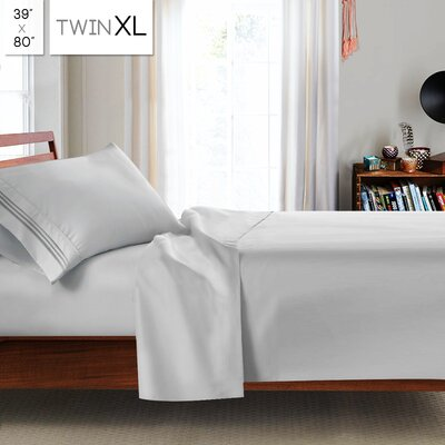 Beth Twin-XL 3pc Sheet Set Color: Silver