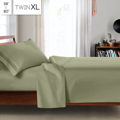Beth Twin-XL 3pc Sheet Set Color: Sage