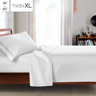 Beth Twin-XL 3pc Sheet Set Color: White