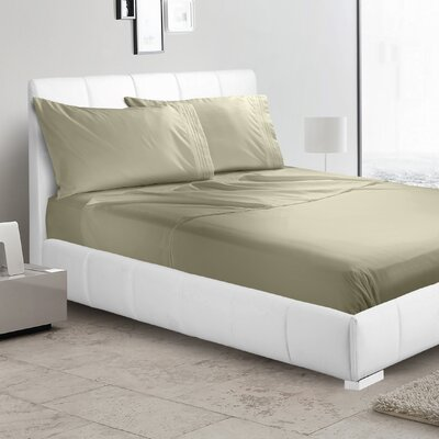 Verna Flat Sheet Size: King, Color: Sage Green