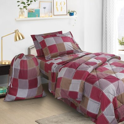 6 Piece Solid Plain Bed-In-a-Bag Set
