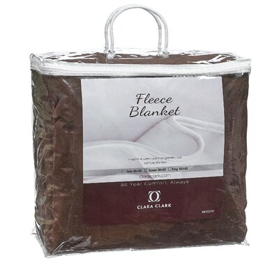 Luxury Warm Microplush Fleece Blanket Size: King, Color: Brown