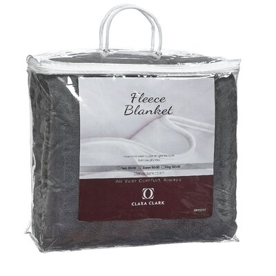 Luxury Warm Microplush Fleece Blanket Size: Queen, Color: Gray